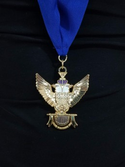 "33rd-Degree-Double-Headed-Eagle-Medallion-""Wings-Up""-blue-ribbon"